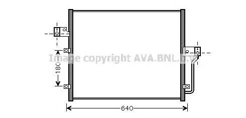 DW5082 Радиатор кондиционера SSANGYONG: ACTYON 2.0 Xdi/2.3/2.3 4x4/200 Xdi 4WD 05 - , KYRON 2.0 Xdi/2.0 Xdi 4x4/2.7 Xdi 05 -