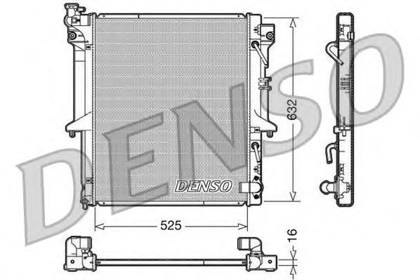 DRM45018 Радиатор системы охлаждения MITSUBISHI: L200 2.5