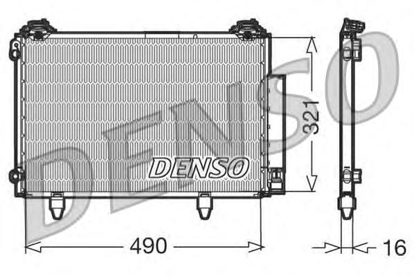 DCN50002 Конденсатор TO Yaris 04.99-