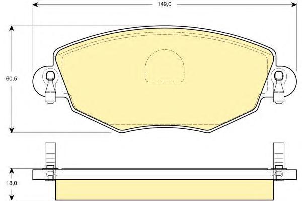 6114344 Колодки тормозные FORD MONDEO 0007/JAGUAR X-TYPE 01 передние