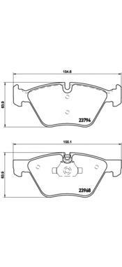 P06036 Колодки тормозные BMW E90/E60 1.8-3.0 03- передние