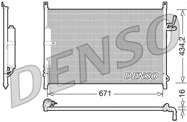 dcn46015 Радиатор кондиционера INFINITI: M35 3.5 LUXURY/3.5 LUXURY ПРИВОД НА ВСЕ КОЛЕСА 05-, M45 4.5 LUXURY 05-