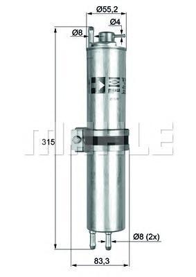 KLH12 Фильтр топливный BMW: 7 01-