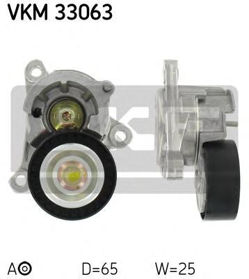 VKM33063 Ролик натяжной поликлинового ремня Citroen. Peugeot 2.0i 16V 00-