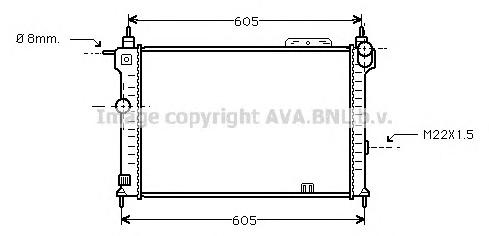 OLA2028 Радиатор OPEL ASTRA F 1.4-2.0/1.7D 91-02
