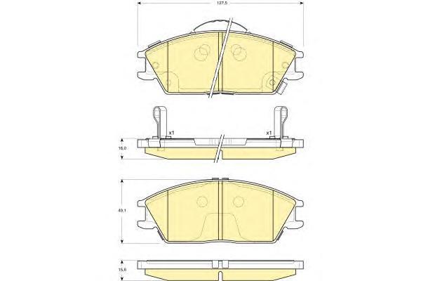6133319 Колодки тормозные HYUNDAI ACCENT/GETZ передние