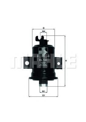 KL143 Фильтр топливный TOYOTA CARINA II/CELICA -90