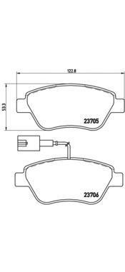 P23085 Колодки тормозные FIAT 500 10-/PUNTO 08- передние