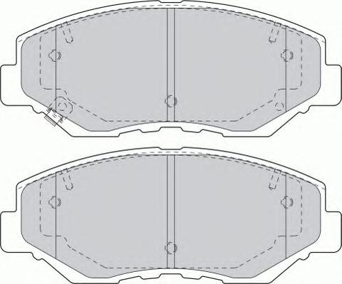 FDB1658 Колодки тормозные HONDA CR-V II/ELEMENT 02- передние