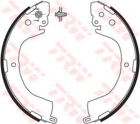 PSP617 Колодки тормозные барабанные задн MITSUBISHI: L200 2.4/2.5TD 96/L400 2.5TD 96