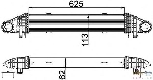 8ML376777121 Интеркулер MB W204 1.6K/1.8K/2.2TD 07-