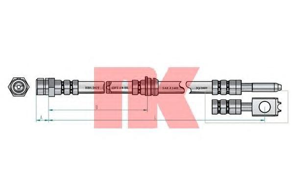 8547102 Шланг тормозной AUDI A3/SKODA OCTAVIA/VW GOLF/CADDY/JETTA/TOURAN 03- передний