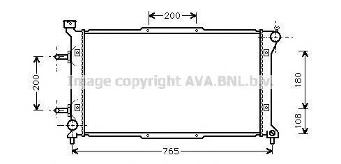 SU2037 Радиатор SUBARU LEGACY 2.0/2.2 94-99