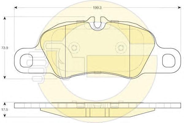 6119905 Колодки тормозные PORSHE 911 08-/BOXTER 12-/CAYMAN 13- передние