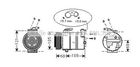 OLAK138 Компрессор кондиционера / OPEL Astra G