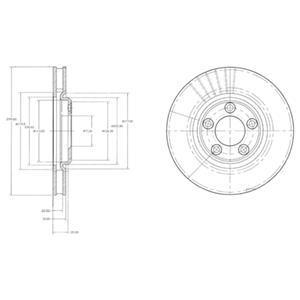 BG3511 Диск тормозной JAGUAR S-TYPE 2.5-4.2 99- передний