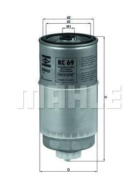 KC69 Фильтр топливный AUDI A4/A6/A80/A100/VW PASSAT -00/VOLVO 850/S70/S80 D/TD