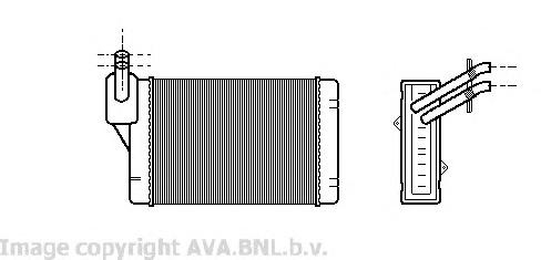 VW6069 Радиатор отопителя VAG A3 / GOLF/PASSAT / IBIZA / OCTAVIA 1.6-2.0/1.8T/1.9TD 96-
