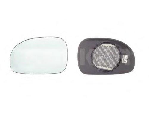 PMG2923G02 Стекло зеркала прав, выпукл, тониров син, с подогр PEUGEOT: 406 - 95-99