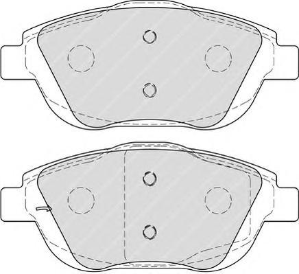 FDB4288 Колодки тормозные CITROEN C3 1.6 09-/DS3 1.6 10- передние