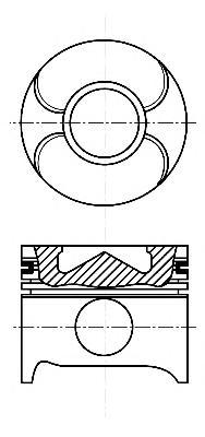 8711790000 Поршень MB C(W202/W203)/E(W210)/SPRINTER OM611-613 STD(комплект)
