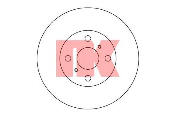 204543 Диск тормозной TOYOTA COROLLA 1.3-2.0 92-02 передний D=255мм.