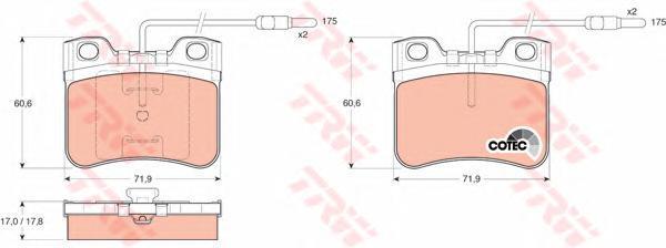 GDB906 Колодки тормозные дисковые передн CITROEN: AX 86-98