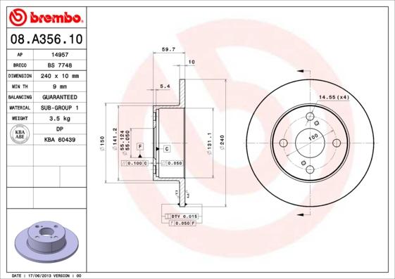 08a35610 Тормозной диск