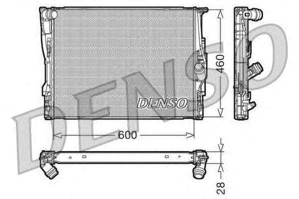 DRM05110 Радиатор системы охлаждения BMW: 1 (E81, E87) 116i/120i/130i 04 - , 1 кабрио (E88) 120i/135i 08 - , 1 купе (E82) 135i 0