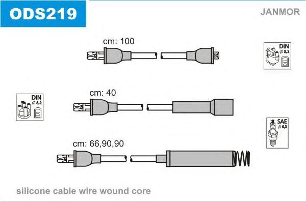 ODS219 Комплект проводов зажигания OPEL: OMEGA A 86-94, OMEGA A УНИВЕРСАЛ 86-94