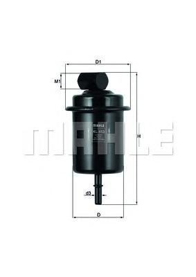 KL453 Фильтр топливный HYUNDAI ACCENT/MATRIX/H-1 CRDI