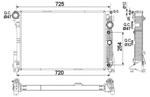 53968 Радиатор MB C(W204, 212) 07-