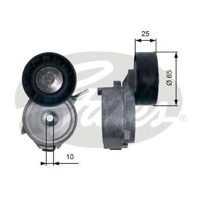 T39124 Натяжитель ремня приводного FORD MONDEO/CITROEN C5/PEUGEOT 407 2.0D/2.2D 06-