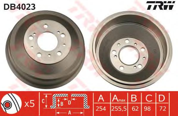 DB4023 Барабан тормозной PEUGEOT BOXER/FIAT DUCATO/CITROEN JUMPER 1t-1.5t