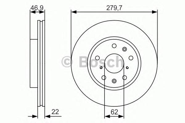 0986479S58 Диск тормозной SUZUKI SX4 06- передний вент.D=280мм.