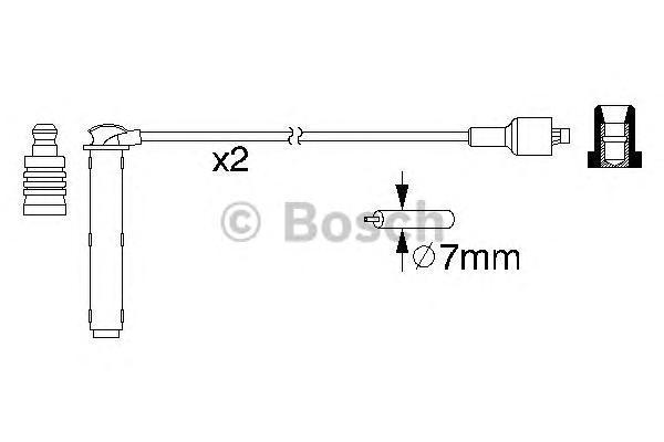 0986357154 Комплект проводов зажигания MG EXPRESS фургон 1.4  2003/03-2005/05
