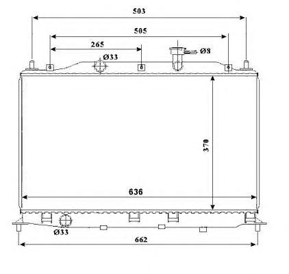 53822 Радиатор HY Accent (MC) 1,4/1,6 МКПП 05-10
