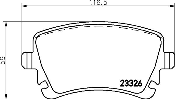 8DB355011531 Колодки тормозные VOLKSWAGEN T5 03/MULTIVAN 03 с датчиком задние