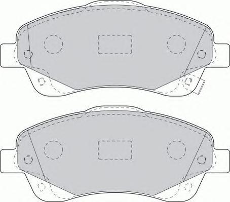 FDB1648 Колодки тормозные TOYOTA AVENSIS 03/COROLLA VERSO 1.8/2.0D/2.2D пер.