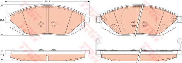 GDB4606 Колодки тормозные CHEVROLET SPARK 10- передние
