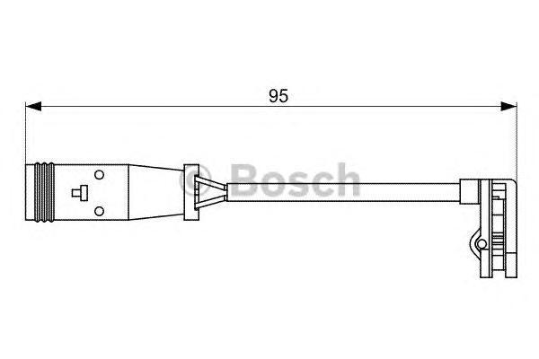1987473036 Датчик износа торм.колодок MERCEDES SPRINTER/VW CRAFTER 06- зад.