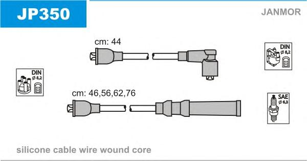 JP350 Комплект проводов зажигания MAZDA: 626 2.2 87-97