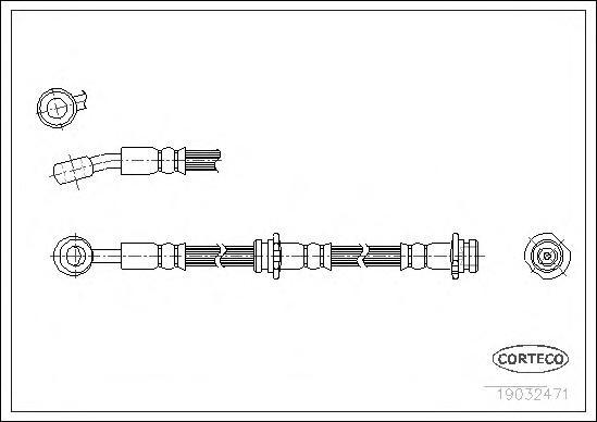 19032471 Тормозной шланг передний L 480mm