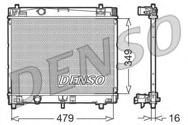 DRM50003 Радиатор TOYOTA YARIS 1.0/1.3 05-