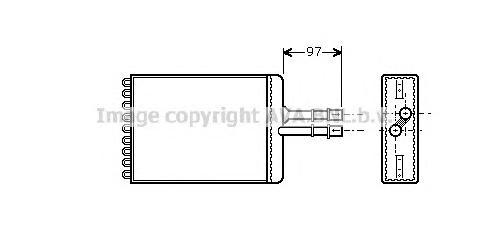 OL6216 Радиатор отопителя OPEL VECTRA 1.6-2.6/1.7D-2.2D 95-03