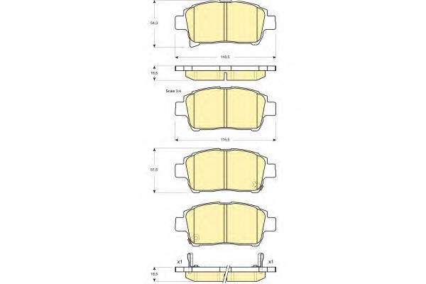 6133179 Колодки тормозные TOYOTA COROLLA/PRIUS/YARIS 1.0-1.6 99- передние