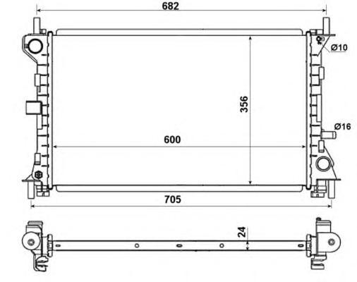 509638 Радиатор FO Focus I 1.8TDCi