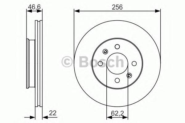0986479R77 Диск тормозной HYUNDAI ACCENT 05-/i20 08-/KIA RIO II 05- передний вент.