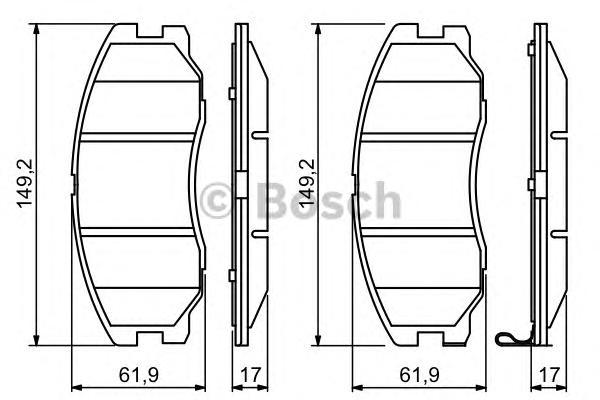 0986494250 Колодки тормозные CHEVROLET CAPTIVA/OPEL ANTARA 2.0D/2.4/3.2 07- передние