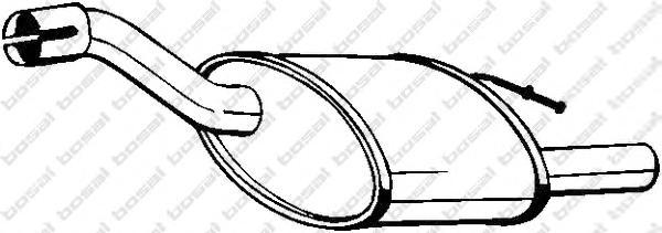 154357 Глушитель FORD FOCUS 2.0 98-04 (HATCH)